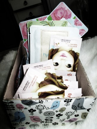 My box of Korean sheet masks ^_^