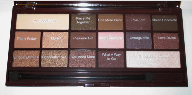 makeuprevolutionchocolatepalette